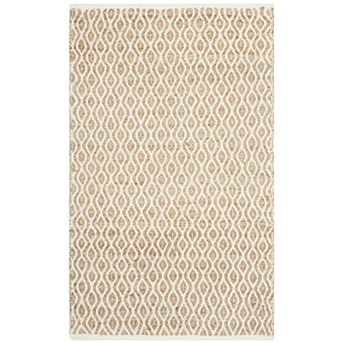 Safavieh Cape Cod Collection CAP821I Hand Woven Natural Cotton Area Rug, 3 feet by 5 feet (3' x 5')