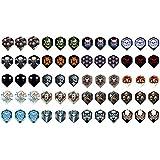 5 Sets (15 Pieces) Of Skulls Standard Wide Size Dart Flights - Assorted Designs