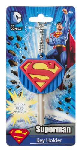 DC Superman Logo Soft Touch PVC Key Holder - 1