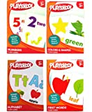 Playskool Early Learning Flash Cards PreK-K 4-Pack ~ Alphabet, Colors & Shapes, First Words, & Number