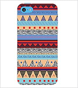 PrintDhaba Pattern D-5289 Back Case Cover for APPLE IPHONE 5C (Multi-Coloured)