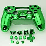3CLeader® Case Cover Shell Skin for PS4 Controller with Buttons Green