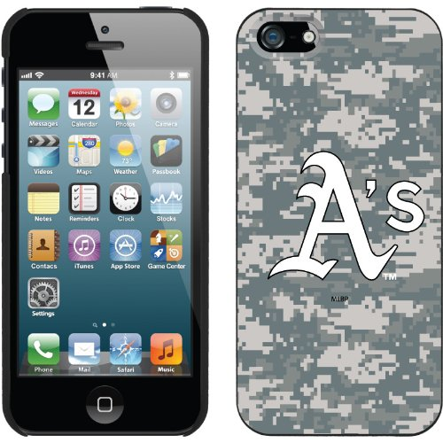 Best Price Oakland Athletics - Digi Camo A's design on a Black iPhone 5 Thinshield Snap-On Case by Coveroo