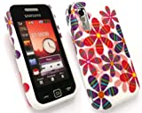 EMARTBUY SAMSUNG S5230 TOCCO LITE SILICON CASE/COVER/SKIN ORIENTAL FLOWERS