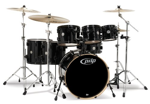 Pacific Drums Pdcm2217Pb Concept Series 7-Piece Drum Set - Pearlescent Black