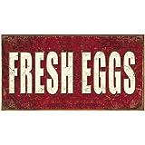 Fresh Eggs Distressed Retro Vintage Tin Sign