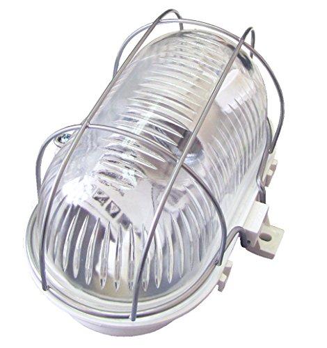 tibelec-338310-hublot-ovale-avec-grille-metal-plastique-60-w-e14-blanc-170-x-95-x-90-mm