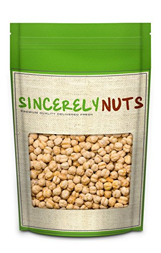 Sincerely Nuts Roasted & Salted Chickpeas - One (1) Lb. Bag - Irresistibly Tasty - Incredible Freshness - Packed with Fiber & Minerals- Kosher Certified (Salted Dried Peas compare prices)