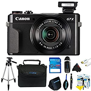 Canon PowerShot G7 X Mark II Digital Camera + Pixi-Advanced Accessory Kit-International Version