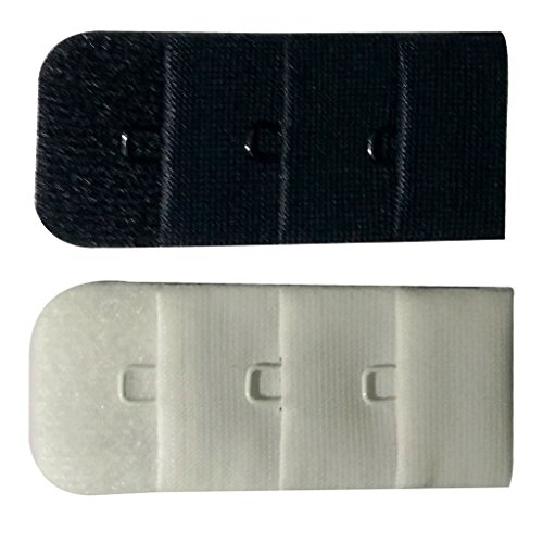 Bralux Bra Hook Extender White & Black 1x3 Set of 2  available at amazon for Rs.150