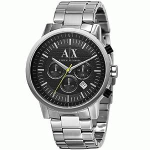 Emporio Armani AX2063 - Reloj de pulsera hombre, acero inoxidable, color plateado