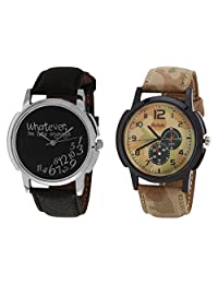Relish Black Analog Round Casual Wear Watches For Men - B019T7LJO0