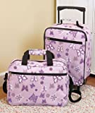 Kids 2-piece Luggage Set Purple Butterflies
