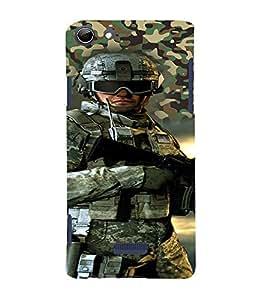 PrintVisa Fighter Commando 3D Hard Polycarbonate Designer Back Case Cover for Micromax CanvasSelfie3Q348