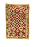 Design Community By Loomier Alfombra Kelim Kaudani Big (Beige/Multicolor)
