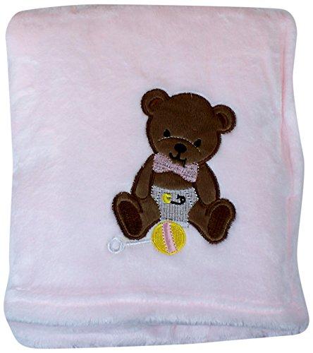 My Baby Bear Design on Velvet Blanket, Pink