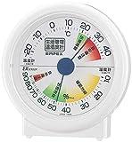 エンペックス気象計 温度湿度計 生活管理温湿度計 置き用 日本製 ホワイト TM-2401