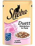 Sheba Duett Katzenfutter Lachs, 12er Pack (12 x 85 g)