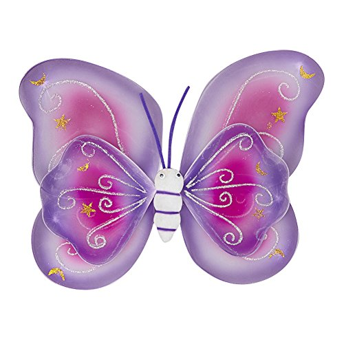 Lavender/Pink Layered Butterfly Wings