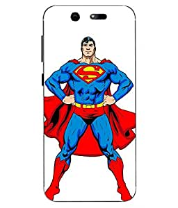 Case Cover Superman Printed White Soft Back Cover For LYF EARTH 2