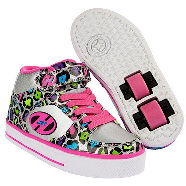 Heelys X2 Cruz Silver/Multi/Leopard Kids 1uk
