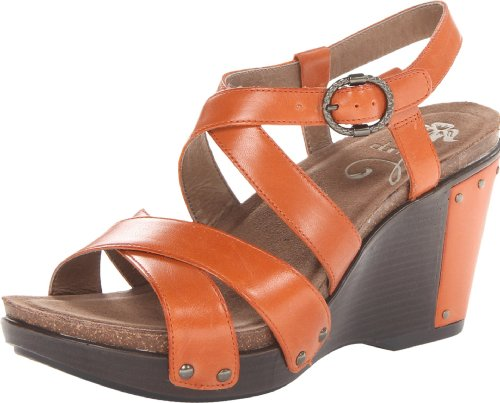 Dansko Women'S Frida Wedge Sandal,Burnt Orange,37 Eu/6.5-7 M Us front-590899