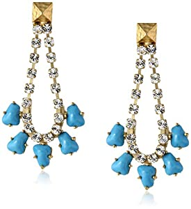 Sam Edelman Rhinestone Chain Stone Drop Earrings