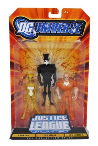DC Universe Year 2008 Justice League Unlimited Fan Collection 3 Pack 4-1/2 Inch Tall Action Figure - Cheetah, The Shade and Lex Luthor