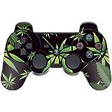 247Skins - Sticker de Protection pour Manette PS3 Playstation 3 Sony - Weeds Black