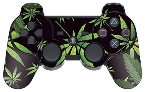 designer-skin-for-playstation-3-remote-controller-weeds-black