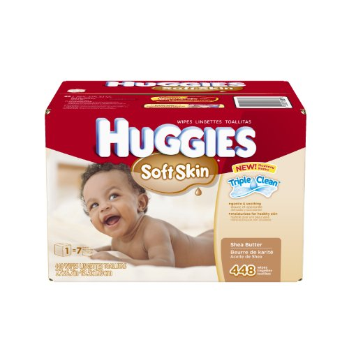 Huggies Soft Skin Baby Wipes Pop-Up Refill, 448