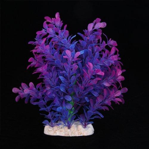 Sonline plante artificielle aquatique en plastique violet for Plante haute artificielle