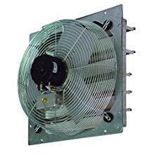 "TPI Corporation CE20-DS Direct Drive Exhaust Fan, Shutter Mounted, Single Phase, 20"" Diameter, 120 Volt"