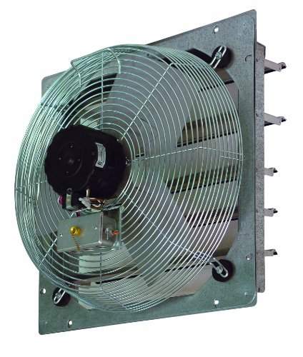 "Tpi Corporation Ce24-Ds Direct Drive Exhaust Fan, Shutter Mounted, Single Phase, 24"" Diameter, 120 Volt"