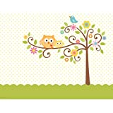 """Creative Converting Happi Tree Sweet Baby Plastic Tablecover, Rectangle, 54"""" x 108"""""""