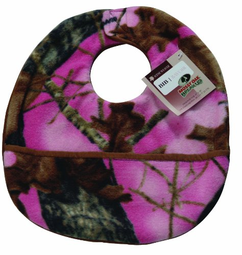 Scene Weaver Mossy Oak Camouflage Baby Bib, Break-Up Pink - 1