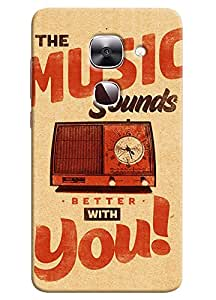 Omnam Music Sounds Better With You Printed Designer Back Cover Case For LeTv Le2