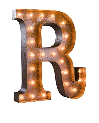 24 Vintage-Inspired Letter R Marquee Light