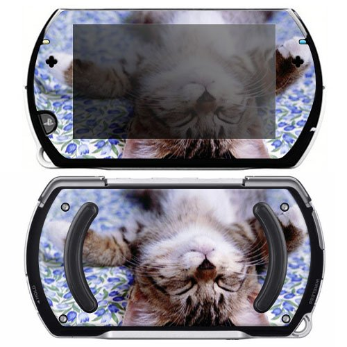 Cute Kitty Cat Decorative Protector Skin Decal Sticker for Sony Playstation PSP Go System