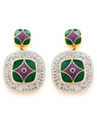 Akshim Multicolour Alloy Earrings For Women - B00NPYCC9K