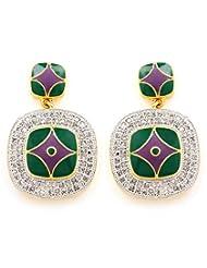 Akshim Multicolour Alloy Earrings For Women - B00NPYCC9K