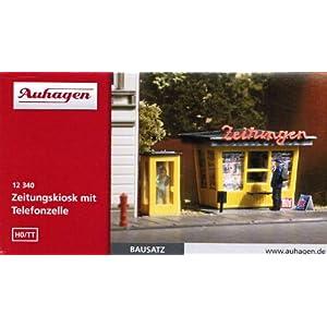 Auhagen 12340 H0/TT Zeitungskiosk mit Telefonzelle