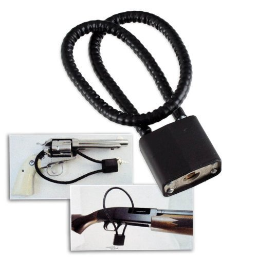 "Buy Discount Universal 15"" Keyed Safety Gun Lock Cable - Fits Pistols, Rifles, Shotguns"
