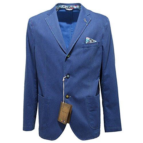 9767N giacca MANUEL RITZ blu giacche uomo jackets men [52]