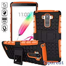 buy Lg G4 Case,Topgreat/Tpu+Pc/Hybrid Rubberized/[Scratchproof][Shock Proof][Skidproof]Impact Resistant Hard Shell With Kickstand [Gifts] For Lg G4(Orange)