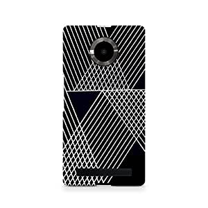 Ebby Reflecting Lines Premium Printed Case For Micromax YU Yuphoria