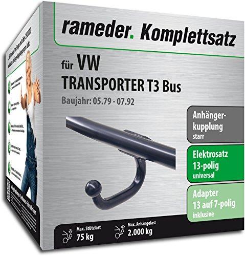 RAMEDER-Komplettsatz-Anhngerkupplung-starr-13pol-Elektrik-fr-VW-TRANSPORTER-T3-Bus-124857-03889-2