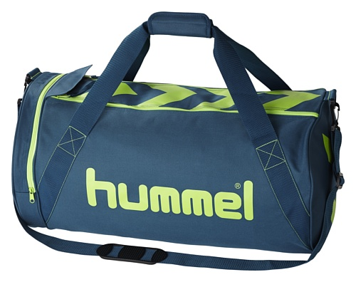 Hummel - Borsone sportivo Stay Authentic, misura L, Blu (blue - Legion Blue/Green Gecko), 66 x 28 x 36 cm