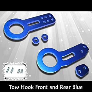 88-00 Honda Civic 94-01 Integra 04-10 Scion 02-06 Civic SI EP3 RSX Tow Hook Front and Rear Blue