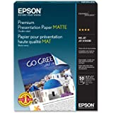 Epson Premium Presentation Paper MATTE (8.5x11 Inches, Double-sided, 50 Sheets) (S041568)
